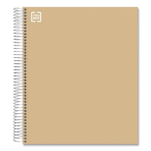 Five-Subject Notebook, Medium/College Rule, Brown Cover, 11 x 8.5, 200 Sheets. Picture 1
