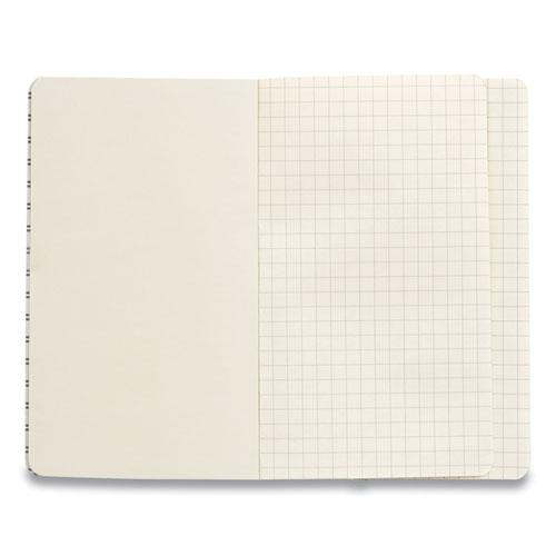 Flexible-Cover Business Journal, Quadrille Rule, Gray Cover, 3.5 x 5.5, 96 Sheets. Picture 2