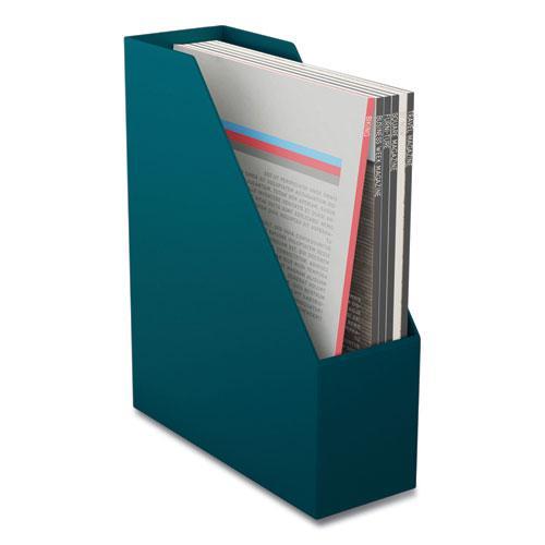 Plastic Magazine File, 3.66 x 10.3 x 12.51, Teal. Picture 1