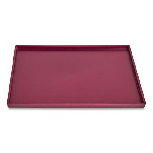 Slim Stackable Plastic Tray, 1-Compartment, 6.85 x 9.88 x 0.47, Purple. Picture 1