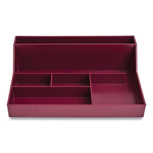 Plastic Desktop Organizer, 6-Compartment, 6.81 x 9.84 x 2.75, Purple. Picture 1