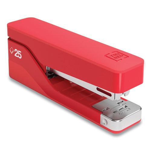 Desktop Aluminum Stapler, 25-Sheet Capacity, Red. Picture 1