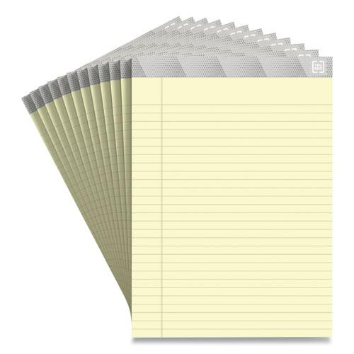 Notepads, Wide/Legal Rule, Canary Sheets, 8.5 x 11.75, 50 Sheets, 12/Pack. Picture 1