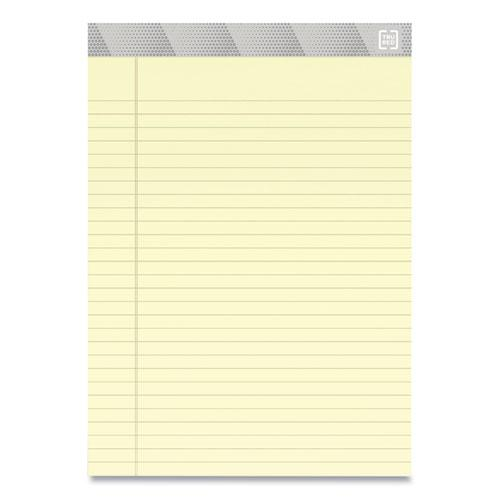 Notepads, Wide/Legal Rule, Canary Sheets, 8.5 x 11.75, 50 Sheets, 12/Pack. Picture 2