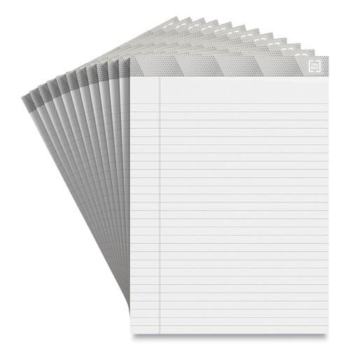 Notepads, Wide/Legal Rule, White Sheets, 8.5 x 11.75, 50 Sheets, 12/Pack. Picture 1