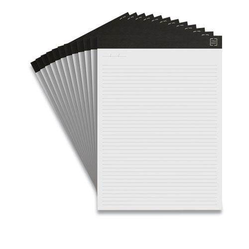 Notepads, Narrow Rule, White Sheets, 8.5 x 11.75, 50 Sheets, 12/Pack. Picture 1