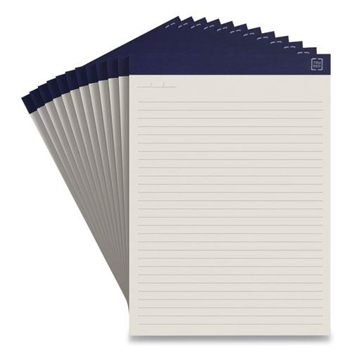 Notepads, Wide/Legal Rule, Ivory Sheets, 8.5 x 11.75, 50 Sheets, 12/Pack. Picture 1