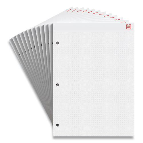 Notepads, Dotted Rule, White Sheets, 8.5 x 11.75, 50 Sheets, 12/Pack. Picture 1