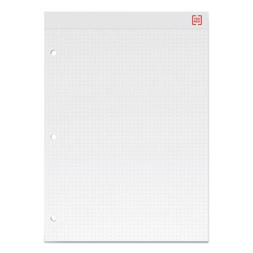 Notepads, Dotted Rule, White Sheets, 8.5 x 11.75, 50 Sheets, 12/Pack. Picture 2