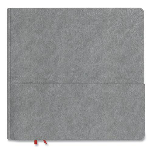 Square Explore Journal, Dotted Rule, Gray Cover, 8 x 8, 192 Sheets. Picture 1