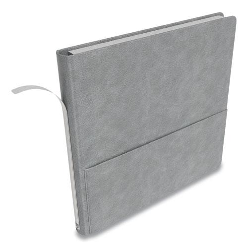 Square Explore Journal, Dotted Rule, Gray Cover, 8 x 8, 192 Sheets. Picture 4