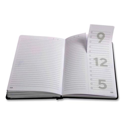 Medium Starter Journal, Narrow Rule, Black Cover, 5 x 8, 192 Sheets. Picture 2