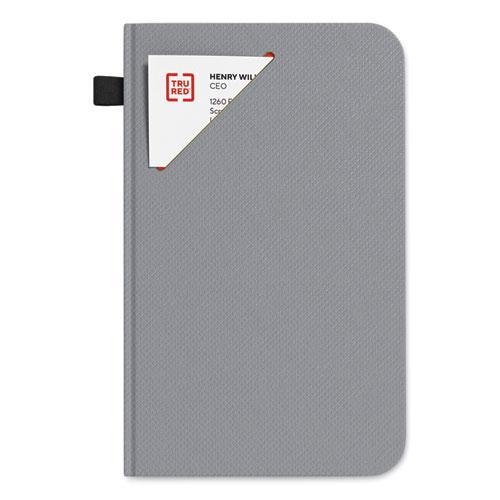 Medium Starter Journal, Narrow Rule, Gray Cover, 5 x 8, 192 Sheets. Picture 1