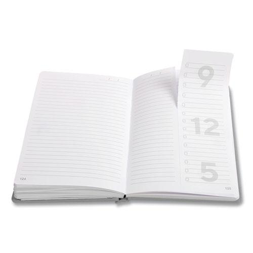 Medium Starter Journal, Narrow Rule, Gray Cover, 5 x 8, 192 Sheets. Picture 2