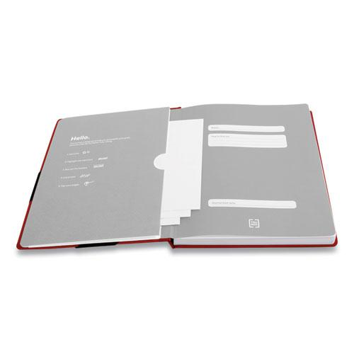 Large Starter Journal, Narrow Rule, Red Cover, 8 x 10, 192 Sheets. Picture 3
