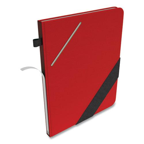 Large Starter Journal, Narrow Rule, Red Cover, 8 x 10, 192 Sheets. Picture 4