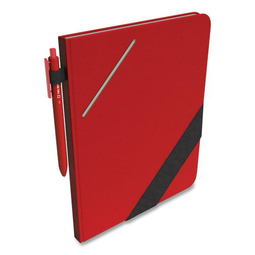 Large Starter Journal, Narrow Rule, Red Cover, 8 x 10, 192 Sheets. Picture 5