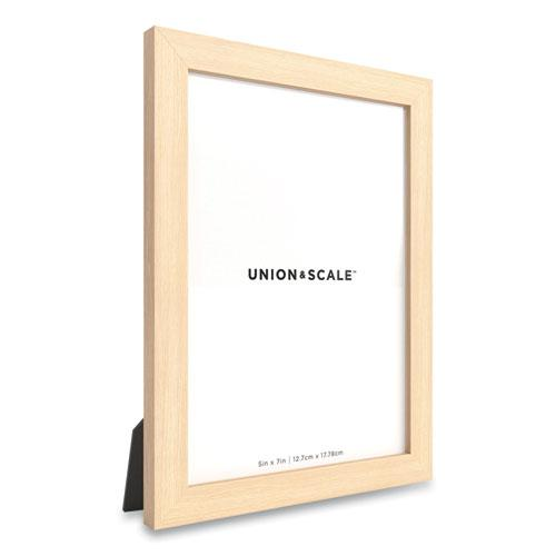 Essentials Wood Picture Frame, 5 x 7, Natural Frame. Picture 2
