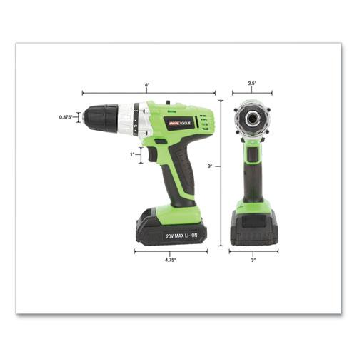 20V Max.Li-ion 3/8 Inch Drive Cordless Drill. Picture 2