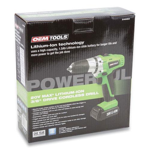 20V Max.Li-ion 3/8 Inch Drive Cordless Drill. Picture 4
