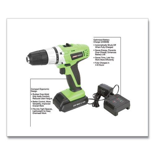20V Max.Li-ion 3/8 Inch Drive Cordless Drill. Picture 5