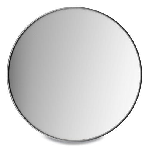 """Aluminum Frame Wall Mirror, Round, Black Frame, 31.5"""" dia. Picture 1"""
