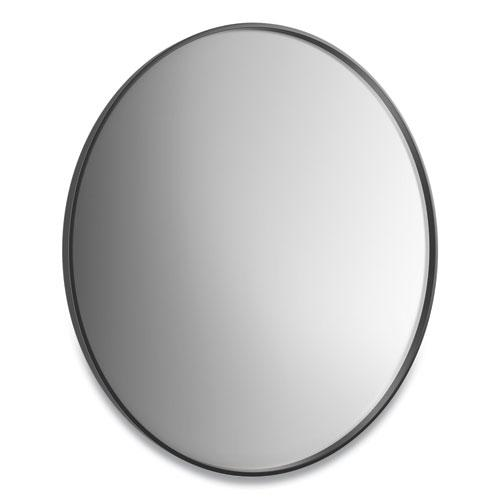 """Aluminum Frame Wall Mirror, Round, Black Frame, 31.5"""" dia. Picture 2"""