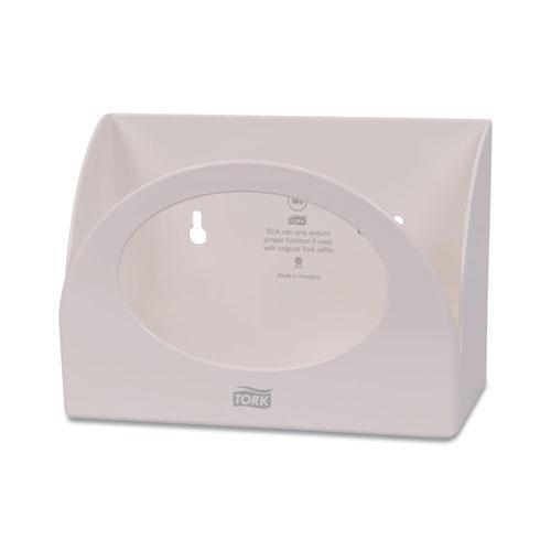 Small Bracket Wiper Dispenser, 8.42 x 4.22 x 5.74, White. Picture 2