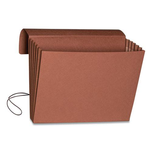 """Extra-Wide Expanding Wallets w/ Elastic Cord, 5.25"""" Expansion, 1 Section, Letter Size, Redrope. Picture 5"""