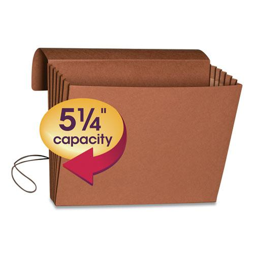 """Extra-Wide Expanding Wallets w/ Elastic Cord, 5.25"""" Expansion, 1 Section, Letter Size, Redrope. Picture 3"""