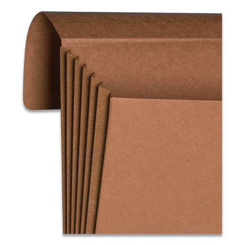 """Extra-Wide Expanding Wallets w/ Elastic Cord, 5.25"""" Expansion, 1 Section, Letter Size, Redrope. Picture 4"""