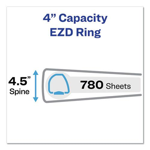 """Durable View Binder with DuraHinge and EZD Rings, 3 Rings, 4"""" Capacity, 11 x 8.5, White, (9801). Picture 7"""