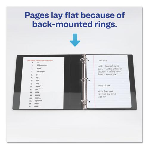 """Durable View Binder with DuraHinge and EZD Rings, 3 Rings, 4"""" Capacity, 11 x 8.5, Black, (9800). Picture 4"""