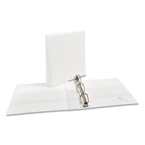 """Durable View Binder with DuraHinge and EZD Rings, 3 Rings, 1.5"""" Capacity, 11 x 8.5, White, (9401). Picture 1"""