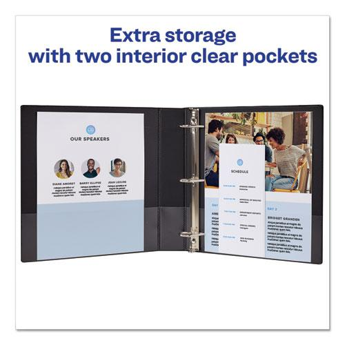 """Durable View Binder with DuraHinge and Slant Rings, 3 Rings, 1.5"""" Capacity, 11 x 8.5, Blue. Picture 2"""