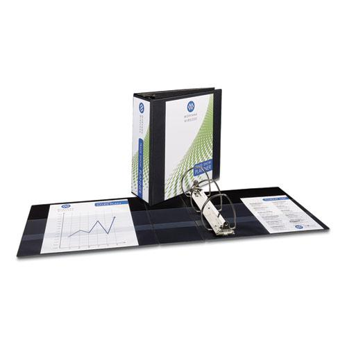 """Durable View Binder with DuraHinge and EZD Rings, 3 Rings, 4"""" Capacity, 11 x 8.5, Black, (9800). Picture 1"""