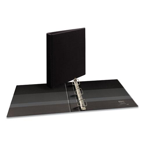 """Durable View Binder with DuraHinge and EZD Rings, 3 Rings, 1"""" Capacity, 11 x 8.5, Black, (9300). Picture 1"""