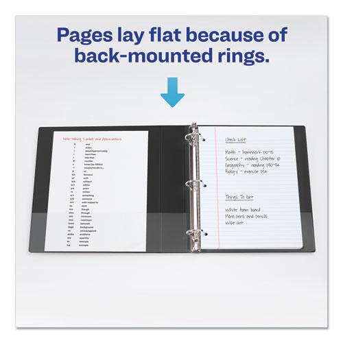 """Durable View Binder with DuraHinge and Slant Rings, 3 Rings, 2"""" Capacity, 11 x 8.5, Blue. Picture 3"""