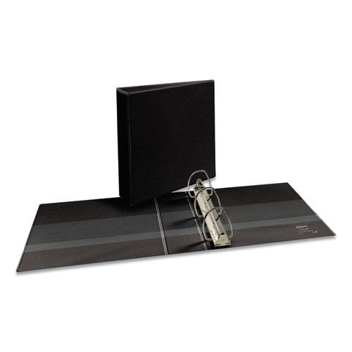 """Durable View Binder with DuraHinge and EZD Rings, 3 Rings, 3"""" Capacity, 11 x 8.5, Black, (9700). Picture 1"""