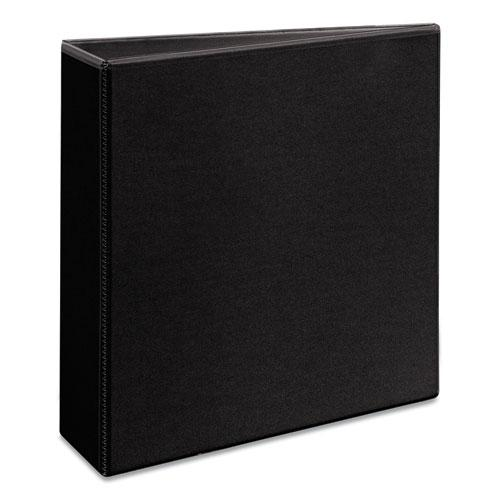 """Durable View Binder with DuraHinge and Slant Rings, 3 Rings, 3"""" Capacity, 11 x 8.5, Black. Picture 3"""