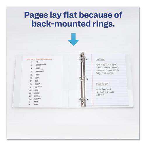 """Durable View Binder with DuraHinge and EZD Rings, 3 Rings, 1"""" Capacity, 11 x 8.5, White, (9301). Picture 1"""