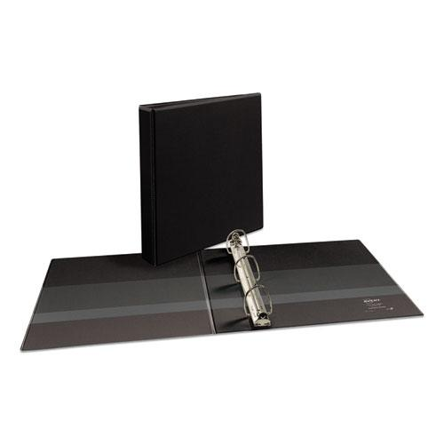 """Durable View Binder with DuraHinge and EZD Rings, 3 Rings, 1.5"""" Capacity, 11 x 8.5, Black, (9400). Picture 1"""