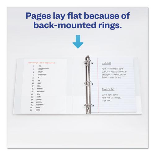 """Durable View Binder with DuraHinge and Slant Rings, 3 Rings, 1.5"""" Capacity, 11 x 8.5, White. Picture 6"""