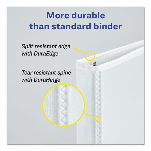 """Durable View Binder with DuraHinge and EZD Rings, 3 Rings, 2"""" Capacity, 11 x 8.5, White, (9501). Picture 8"""