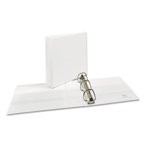 """Durable View Binder with DuraHinge and EZD Rings, 3 Rings, 2"""" Capacity, 11 x 8.5, White, (9501). Picture 1"""