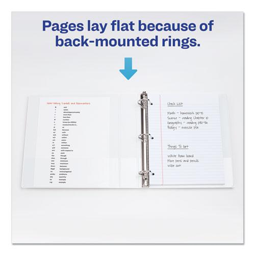 """Durable View Binder with DuraHinge and EZD Rings, 3 Rings, 1.5"""" Capacity, 11 x 8.5, White, (9401). Picture 7"""