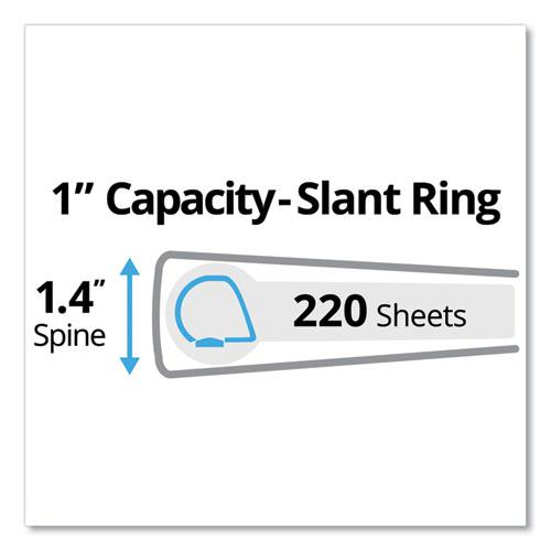 """Durable Non-View Binder with DuraHinge and Slant Rings, 3 Rings, 1"""" Capacity, 11 x 8.5, Blue. Picture 7"""