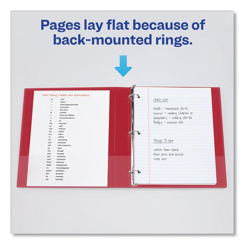 """Durable Non-View Binder with DuraHinge and Slant Rings, 3 Rings, 2"""" Capacity, 11 x 8.5, Red. Picture 4"""