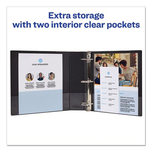 """Durable Non-View Binder with DuraHinge and Slant Rings, 3 Rings, 2"""" Capacity, 11 x 8.5, Blue. Picture 2"""