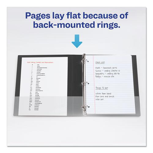 """Durable Non-View Binder with DuraHinge and Slant Rings, 3 Rings, 1"""" Capacity, 11 x 8.5, Blue. Picture 4"""
